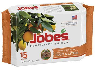 15 Pack Fruit - Jobes 01612 Fertilizer Spikes for Fruit and Citrus Trees, 9-12-12, 15 Pack