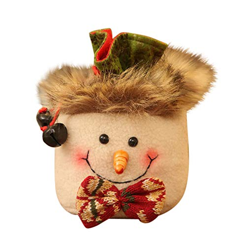 Willsa Cute Exquisite Christmas Candy Party Gift Bag Decorations Xmas Storage Packing Wrapper -