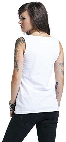 Unbekannt - Camiseta sin mangas - para mujer blanco
