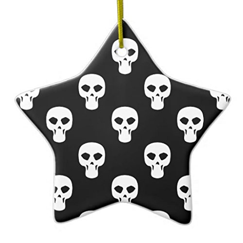 Christmas Ornaments Holiday Tree Ornament Black And White Skulls
