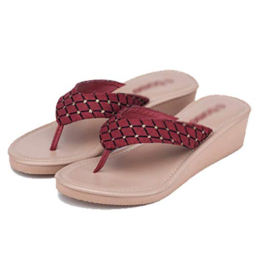 E Donna Spugne Red Cunei Scivolosi Red Aminshap Ciabattine Sandali Spiaggia 38eu Spessi Da Dimensioni Infradito Scarpe Pantofole colore Ciabatte Rtwxzxv