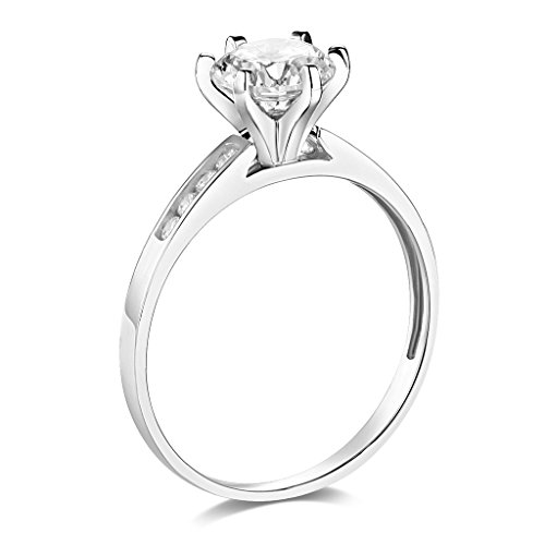 Engagement Rings Kuwait: 14k Yellow OR White Gold SOLID Wedding Engagement Ring