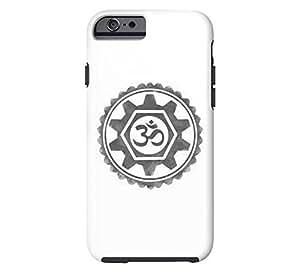 Om / Gear Mandala iPhone 6 White Tough Phone Case - Design By Humans