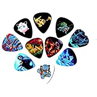 Pokeemon Guitar Picks (10 medium picks in a packet) - Includes Pikaachu and many other cute characters