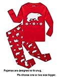IF Pajamas Christmas Little Girls Boys Pjs 100% Cotton Long Sleeve Kids Toddler Bear Pajamas Sets Size 3 Red