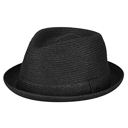 Bailey of Hollywood Men, Women Billy Braided Trilby Black - Trilby Braid Fedora Hat