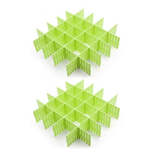 Croing 16 pcs Green Drawer Dividers, Drawer Organizer, Drawer Separators