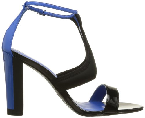 Ck Calvin Klein Neoprene Ibis + Brevet N11037, Sandales À Talons Noirs Pour Femmes (noir (bkc))