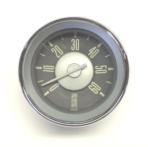 ISP West 311018533WH - VW Type 3 Tachometer Grey Face with White Needle (Needle Tachometer)