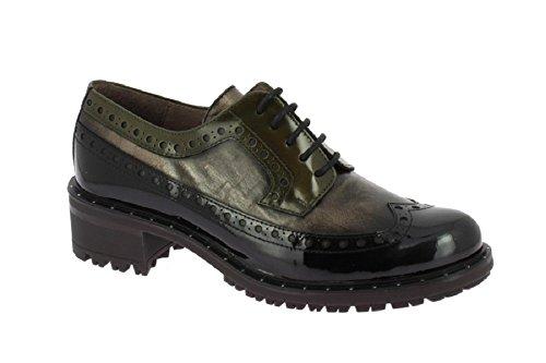 Zapatos Nieves Martín Chaussures À Lacets Femme Noir / Bronze
