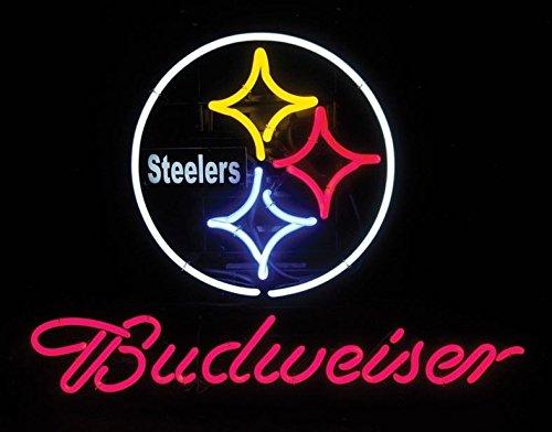 Desung 16x20 Budweiser / Steelers Neon Sign CX128