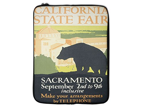 California Fair Sacramento Old Poster Laptop Ipad Sleeve Case Bag 10