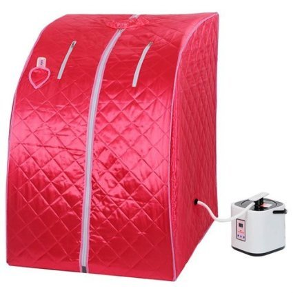 2L Portable Steam Sauna Tent SPA Detox-Weight Loss w/ Chair Red by KOVAL INC.