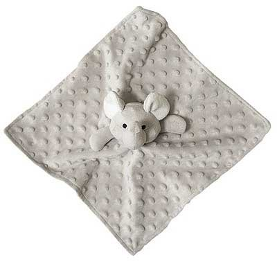 Elegant Baby Elephant Security Blankie, (Elephant Baby Toy)