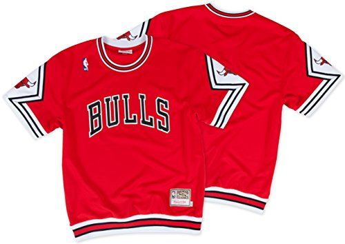 Basketball Shooting Jerseys - Chicago Bulls NBA Mitchell & Ness Men's Authentic Shooting T-Shirt (Red, XLarge)