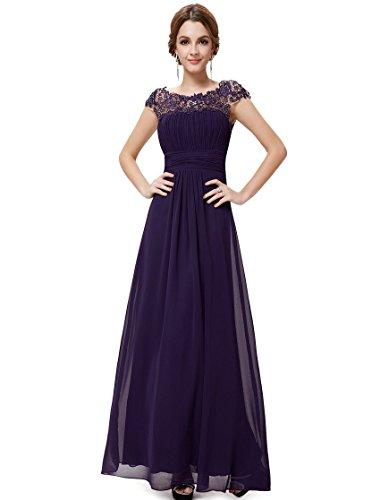Schwarz Anlass S Casual Purple f¨¹r Frauen elegante Partei rmelloses Kleid BwqTaOT0