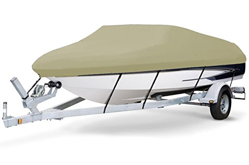 7oz SOLUTION DYED POLYESTER KHAKI COLOR STYLED TO FIT BOAT COVER FOR REINELL / BEACHCRAFT 192 MAGNUM CUDDY I/O 1988-1997 (Boat Reinell Covers)