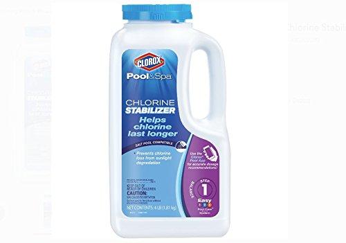 CLOROX Pool&Spa Chlorine Stabilizer, 4-Pound 10004CLX
