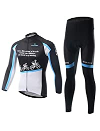 Cycling Suit Long Sleeve Suit, Bicycle Suit, Moisture Wicking and Quick-Drying Pants,Mens Cycling Clothing Set