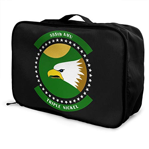 555th Fighter Squadron Emblem Unisex Travel Duffel Bag Waterproof Fashion Lightweight Large Capacity Portable Luggage Bag