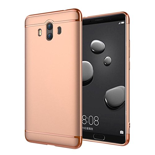 Price comparison product image Mchoice For Huawei Mate 10, Slim Ultra Thin Luxury Electroplate Back Case Cover for Huawei Mate 10 (Rose Gold)
