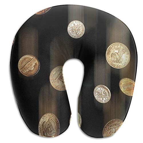 Laurel Neck Pillow Coins Money Travel U-Shaped Pillow Soft Memory Neck Support for Train Airplane Sleeping