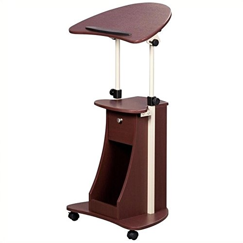 Scranton & Co Deluxe Height Adjustable Laptop Cart in Chocolate by Scranton & Co
