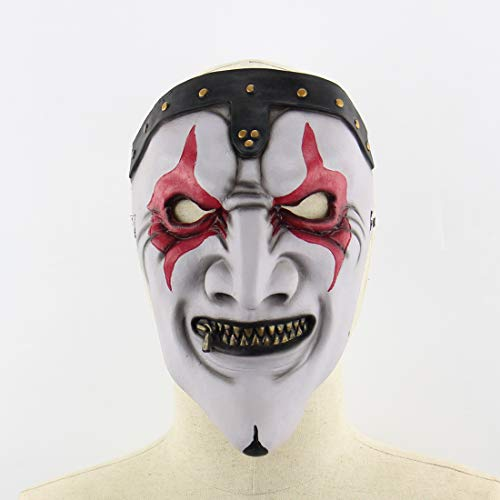 2018 Scary Halloween Mask,Realistic Clown Halloween Face Masks with Hair for Adults and Man,Halloween Masquerade Cosplay Costume Mask. (Red Eyed Devil) ()