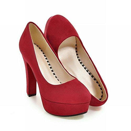 Plateforme MissSaSa Chaussures Escarpins Femmes Rouge Xww4p0q