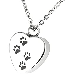 Great gifts for dog lovers dog cremation necklace dogcat paw love heart waterproof cremation urn necklace ash memorial jewelry aloadofball Choice Image