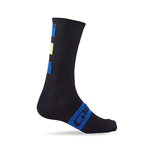 (Giro Seasonal Merino Wool Socks Blue/Black/Lime Large)