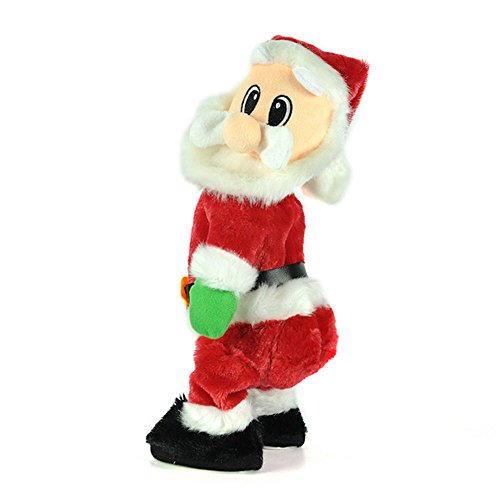 Christmas Electric Santa Claus Dance Doll With Music Toy Funny Xmas (Happy Halloween Animated Clip Art)