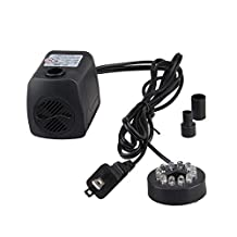 NEWSTYLE 15W 800L/H 12 Color LED Light Submersible Fountain Hydroponics Gardens Fish Aquarium Water Pump