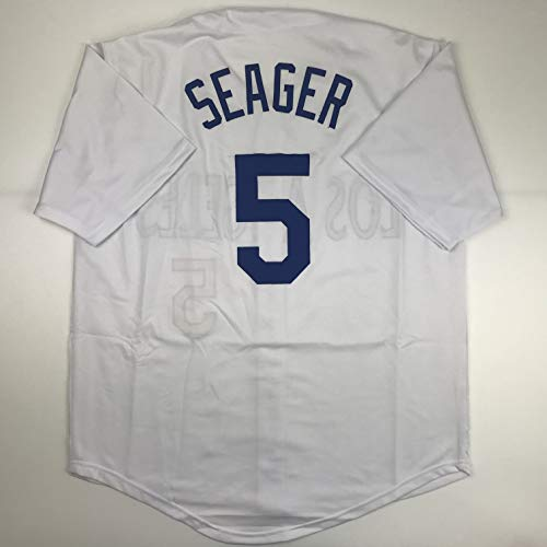 Unsigned Corey Seager Los Angeles LA White Custom Stitched Baseball Jersey Size Men's XL New No Brands/Logos