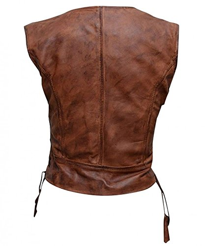 Real 100 Leather Michonne Reale E 100 Collezione Genius Michonne Women Dead Di Camminare The Giubbotto Il Vest Pelle E Donna Walking Genio Morta Collection 1wHwIqU
