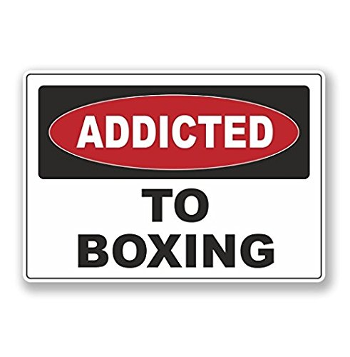 Addicted to Boxing WINDOW CLING STICKER Car Van Campervan Glass - Sticker Graphic - Auto, Wall, Laptop, Cell, Truck Sticker for Windows, Cars, Trucks