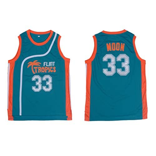 f0ad3bd7250f MVG LLC Jackie Moon  33 Flint Tropics Semi Pro Movie Retro Throwback  Basketball Jersey Embroidery