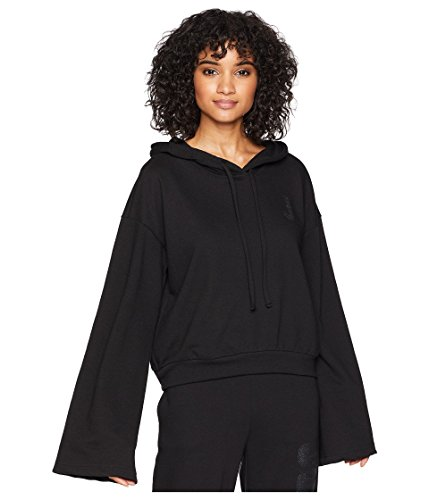 Juicy Couture Logo Velour - Juicy Couture Womens French Terry Logo Hoodie Black L