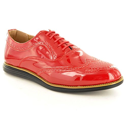 Pair My Schnürhalbschuhe Herren Shiny Red Perfect Patent Srq81r5