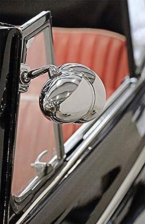 1x Außenspiegel 25 X 17 Cm Edelstahl Spiegel Klemmspiegel Universell Passend Für Viele Fahrzeuge Auto