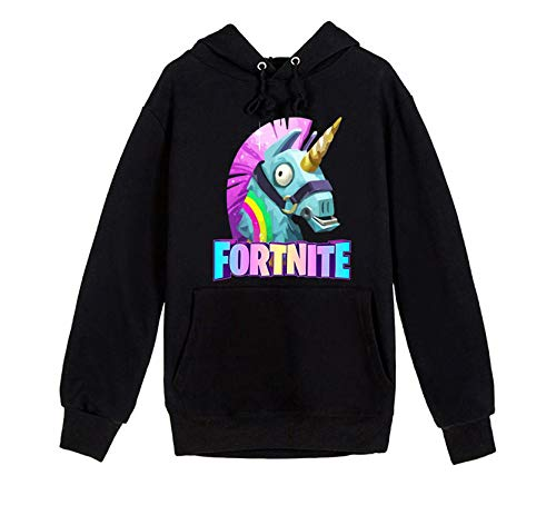 Llama Classic Hoodies Youth Long Sleeve Pullover Children's Fashion Hooded with Pocket(duxl)