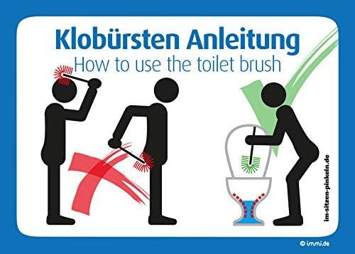4 x para cepillo instrucciones de uso de WC: WC Cepillo ...