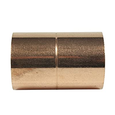 Libra Supply Copper Pressure Coupling with Rolled Stop C x C, Pack of 10 pcs, Copper Pressure Pipe Fitting Plumbing Supply