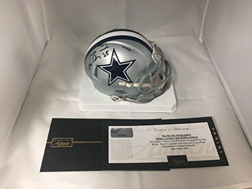 Dez Bryant Signed Autographed Dallas Cowboys Speed Mini Helmet Panini Hologram & COA W Photo Of Signing
