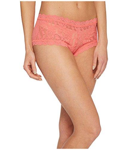 Hanky Panky Women's Signature Lace Boy Shorts, Peachy Keen, Pink, X-Small -
