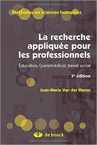 Livre La recherche appliquée en pédagogie des modèles pour l'enseignement pdf