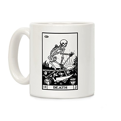 LookHUMAN Death Tarot White 11 Ounce Ceramic Coffee Mug for $<!--$11.99-->