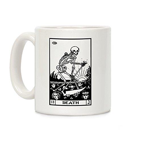 LookHUMAN Death Tarot White 11 Ounce Ceramic Coffee -