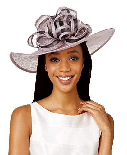 Price comparison product image August Hats Womens Gardenia Wide Brim Hat One Size Lilac