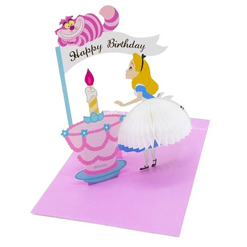 Amazon Disney Alice In Wonderland With Cheshire Cat Honeycomb Pop Up Birthday Greeting Card Health Personal Care